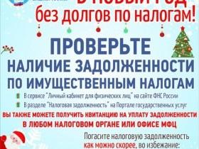 В новый год без долгов по налогам!